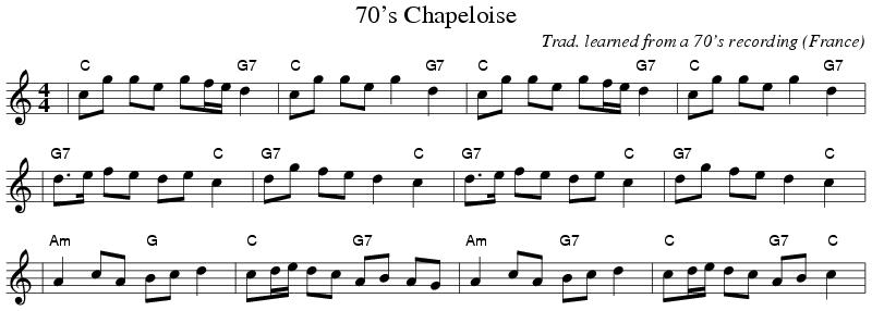 Noten der Chapeloise